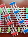 Z&X® 무지개 색 직기 스타일의 다채로운 DIY 수제 직물 고무 밴드 팔찌 도구 (1 개)