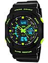 SKMEI® Часы мужские и детские с 2мя часовыми зонами, календарем и LED экраном, водонепроницаемые