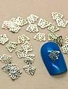 200PCS 중공 나비 디자인 황금 금속 슬라이스 네일 아트 장식