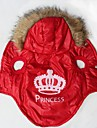 Chat / Chien Manteaux / Pulls a capuche Rouge Vetements pour Chien Hiver / Printemps/Automne Tiares & Couronnes Garder au chaud