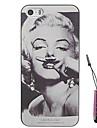 barba padrão Monroe caso difícil&caneta de toque para iPhone 4 / 4S