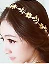 Vintage Gold Flower and Leaf Crystal Hairband Headband Head Chain Hair Jewelry Hair Accessires Head Jewelry