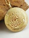 18k золотой покрытием Аллах мусульманскую кулон