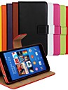 Solid Color Genuine Leather Full Body Case with Stand and Card Slot for Sony Xperia Z3 Compact/Z3 Mini (Assorted Colors)