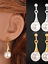 Earring Drop Earrings Jewelry Women Wedding / Party / Daily / Casual / Sports Alloy / Imitation Pearl / Platinum Plated / Gold PlatedGold
