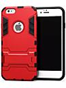 Для Кейс для iPhone 6 / Кейс для iPhone 6 Plus Защита от удара / со стендом Кейс для Задняя крышка Кейс для Армированный Твердый Металл