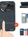 Para Samsung Galaxy Note Com Suporte / com Visor / Flip Capinha Corpo Inteiro Capinha Cor Unica Couro PU Samsung Note 2
