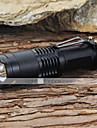 LED손전등 손전등 LED 1200 루멘 5 모드 Cree XM-L T6 조절가능한 초점 충격 방지 스트라이크베젤 용 캠핑/등산/동굴탐험 일상용 일 등산 블랙