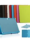 Para Samsung Galaxy Capinhas Com Suporte / Flip / Origami Capinha Corpo Inteiro Capinha Cor Unica Couro PU Samsung Tab 4 10.1