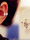 Women\'s Ear Cuffs Costume Jewelry Imitation Diamond Alloy Bowknot Jewelry For Daily