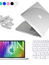 """Enkay 4 en 1 cristal etui de protection + protecteur d\'ecran + clavier + film anti-poussiere bouchons pour MacBook Pro retine 15.4 """""""