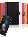Для Кейс для Huawei / P8 / P8 Lite Кошелек / Бумажник для карт / со стендом / Флип Кейс для Чехол Кейс для Один цвет ТвердыйИскусственная