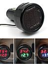 Car Battery Monitor Voltmeter For 12V And 24V Digital Thermometer -10-80Celsius 2in1