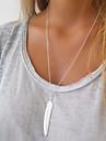 Feminino colares em camadas Pena Liga Moda bijuterias Joias Para Ocasiao Especial Aniversario
