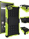중장비 하드 커버 케이스를 갑옷 2015 소니 엑스 페리아 Z5 미니 / Z5 소형 실리콘 보호 피부 이중 색상