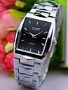L.WEST Men\'s Steel Belt Pointer Square Quartz Watch Wrist Watch Cool Watch Unique Watch