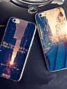 Pour iPhone X iPhone 8 iPhone 8 Plus iPhone 6 iPhone 6 Plus Etuis coque Motif Coque Arriere Coque Vue de la ville Flexible Silicone pour