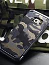 Pour Samsung Galaxy Coque Antichoc Coque Coque Arriere Coque Camouflage Polycarbonate pour Samsung S6 edge plus S6 edge S6 S5