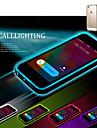 Для Кейс для iPhone 5 Мигающая LED подсветка / Прозрачный Кейс для Задняя крышка Кейс для Один цвет Мягкий TPU iPhone SE/5s/5