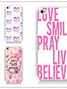 For iPhone 6 Case / iPhone 6 Plus Case Pattern Case Back Cover Case Word / Phrase Hard PC iPhone 6s Plus/6 Plus / iPhone 6s/6