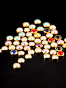 100шт красочные жемчуг металлические Lipping ногтей искусство украшения