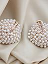 Femme Boucles d\'oreille goujon Poignets oreille Bijoux de Luxe bijoux de fantaisie Perle Cristal Imitation de perle Plaque or Imitation