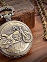 Hommes Montre de Poche Quartz Metallique Bande Bronze