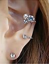 Boucles d\'oreille goujon Cristal Alliage Imitation de diamant Argent Dore Bijoux Soiree Quotidien Decontracte 2pcs