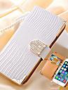 portefeuille de luxe carte cristal bling etui en cuir PU strass couvercle de telephone pour iPhone / 6s 6 plus en plus (couleurs