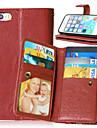 Pour Coque iPhone 5 Porte Carte Portefeuille Avec Support Clapet Magnetique Coque Coque Integrale Coque Couleur Pleine Dur Cuir PU pour