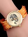 L.WEST  Women\'s Single Circle Around The Rope Elephant Rivet Analog Quartz Bracelet Watch Cool Watches Unique Watches