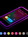 Pour Coque iPhone 5 Lampe LED Allumage Auto Transparente Coque Coque Arriere Coque Couleur Pleine Flexible PUT pour iPhone SE/5s/5