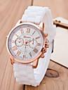 Women European Style Fashion Silicone Roman Numerals Wrist Watches Cool Watches Unique Watches Strap Watch