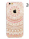 Para iPhone X iPhone 8 iPhone 7 iPhone 7 Plus iPhone 6 iPhone 6 Plus Case Tampa Estampada Capa Traseira Capinha Mandala Rigida PC para