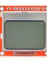 lcd nokia modulo 5110 lcd de 1,6 polegadas com iluminacao de fundo branco para o arduino