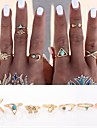 Women\'s Statement Rings Knuckle Ring Love Personalized Punk Costume Jewelry Alloy Cross Animal Shape Triangle Shape Anchor Jewelry For