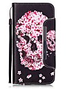 용 아이폰6케이스 / 아이폰6플러스 케이스 지갑 / 카드 홀더 / 스탠드 케이스 풀 바디 케이스 해골 하드 인조 가죽 Apple iPhone 6s Plus/6 Plus / iPhone 6s/6