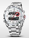 WEIDE® Men\'s Full Steel Analog Digital Auto Date Alarm LCD Display Sport Watch Cool Watch Unique Watch