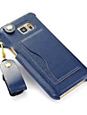 Pour Samsung Galaxy Note Porte Carte Avec Support Coque Coque Arriere Coque Couleur Pleine Cuir PU pour SamsungNote 5 Note 4 Note 3 Note