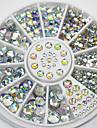 4 사이즈 300 개 네일 아트 팁 크리스탈 반짝이 라인 스톤 장식 휠