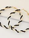 여성용 링 귀걸이 유니크 디자인 패션 유럽의 우아한 의상 보석 레진 합금 Circle Shape 보석류 제품 파티 일상 캐쥬얼