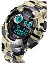 SANDA Masculino Relogio Esportivo Relogio digital Quartzo Digital Quartzo Japones LCD Calendario Impermeavel alarme Luminoso Cronometro