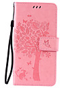 PU Leather Material Cat and Tree Pattern Phone Case for LG K10/K8/K5/K7/K4/G5/G4/G3/V10