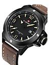 NAVIFORCE Masculino Relógio Militar Relógio de Moda Relógio de Pulso Quartzo Quartzo Japonês Calendário Impermeável Couro BandaLegal