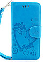 Para Capinha iPhone 7 / Capinha iPhone 6 Porta-Cartao / Carteira / Flip / Com Relevo / Estampada / Magnetica Capinha Corpo Inteiro Capinha
