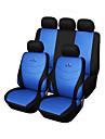 9 pcs siege fixe de voiture couvre gris bleu rouge universel ajustement course materiel de conception de broderie de siege polyester