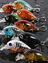 Lot 9Pcs Colors 4.5cm 4g Transparent Plastic Fishing Lures Minow Crankbaits 3D Fish Eye Artificial Lure Bait