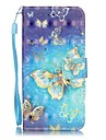 Pour iPhone X iPhone 8 iPhone 7 iPhone 7 Plus iPhone 6 Etuis coque Porte Carte Motif Coque Integrale Coque Papillon Dur Cuir PU pour Apple
