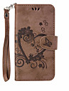 For Motorola MOTO G4 G4 Plus Wallet Card Holder with Stand Embossed Case Full Body Case Heart Hard PU Leather