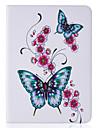 Для Кошелек / Бумажник для карт / со стендом / Флип / Рельефный / С узором Кейс для Чехол Кейс для Бабочка Твердый Искусственная кожа